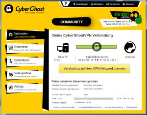 CyberGhost - mit Proxy-Verbindung