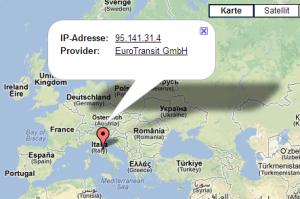 Utrace - Standort ermitteln mit Proxyserver