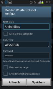mobiler Hotspot konfigurieren