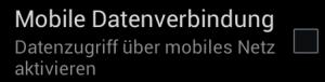 mobiles Internet deaktivieren