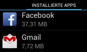 Android speicherverbrauch